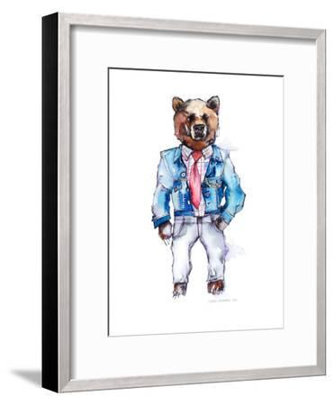 Mac the Bear-Claudia Libenberg-Framed Art Print