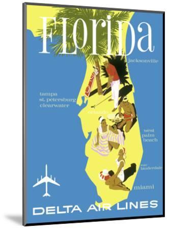 Florida - Golf - Scuba Diving - Sunbathing - Delta Air Lines--Mounted Art Print