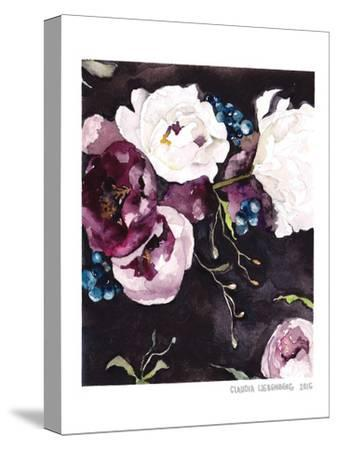 Blooms On Black 5--Stretched Canvas Print
