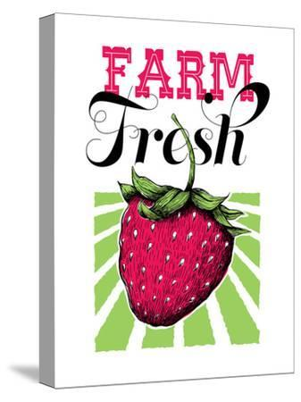 Fruit_strawberry-Jilly Jack Designs-Stretched Canvas Print