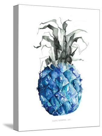 Pineapple_blue--Stretched Canvas Print