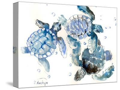 Sea Turtles-Suren Nersisyan-Stretched Canvas Print