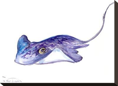 Stingray-Suren Nersisyan-Stretched Canvas Print