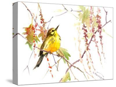 Warbler In Spring-Suren Nersisyan-Stretched Canvas Print