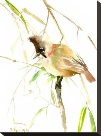 Yuhina Bird-Suren Nersisyan-Stretched Canvas Print