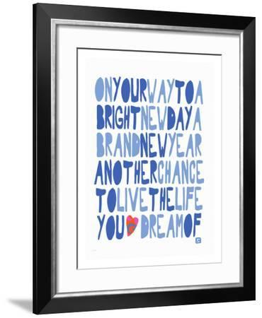 On your Way to a bright Day-Lisa Weedn-Framed Giclee Print