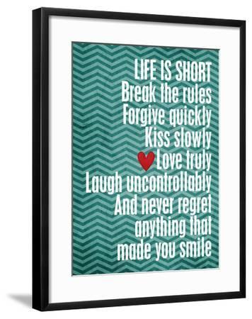 Life is Short-Cheryl Overton-Framed Giclee Print
