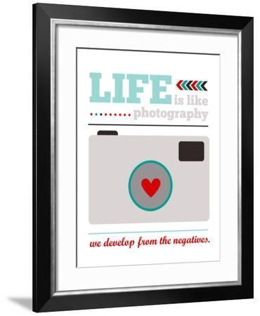Life is Like Photography-Cheryl Overton-Framed Giclee Print