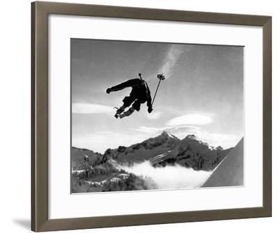 Ski racer-Underwood-Framed Giclee Print