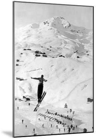 Skier large Jump-Underwood-Mounted Giclee Print