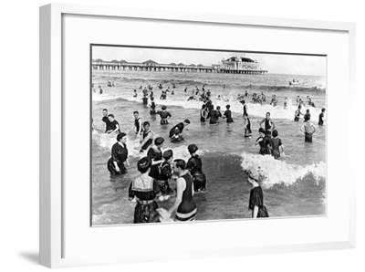 Coney Island Beach Goers-Underwood-Framed Giclee Print