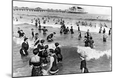 Coney Island Beach Goers-Underwood-Mounted Giclee Print