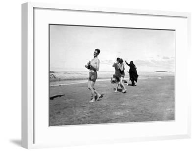 Dancing on Beach-Underwood-Framed Giclee Print