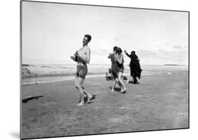 Dancing on Beach-Underwood-Mounted Giclee Print