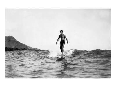 Surfers-Underwood-Framed Giclee Print