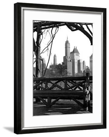 New York view-Underwood-Framed Giclee Print
