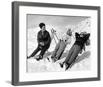Man Skier-Underwood-Framed Giclee Print