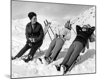 Man Skier-Underwood-Mounted Giclee Print