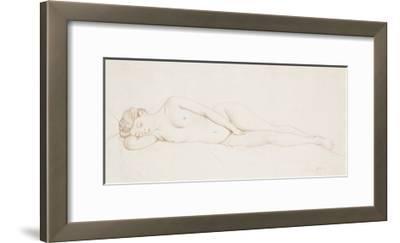 Nu Feminin Couche-Felix Edouard Vallotton-Framed Premium Giclee Print
