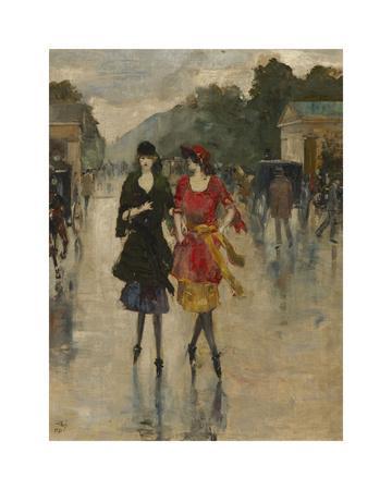 Berlin Street Scene-Lesser Ury-Framed Premium Giclee Print