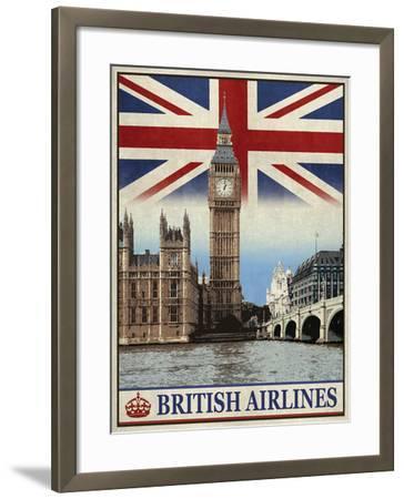 Vintage Travel London-The Portmanteau Collection-Framed Giclee Print
