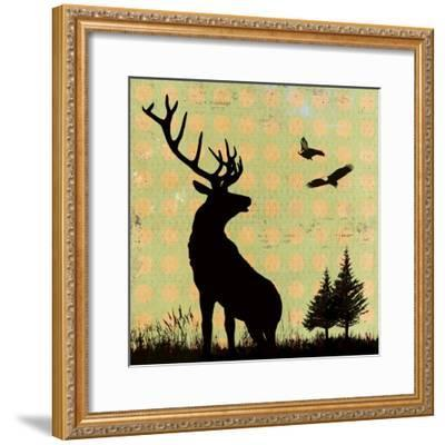 Urban Deer I-Hens Teeth-Framed Giclee Print