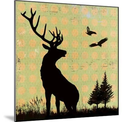 Urban Deer I-Hens Teeth-Mounted Giclee Print