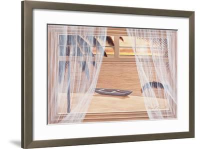 Amber Palms with Window-Diane Romanello-Framed Art Print