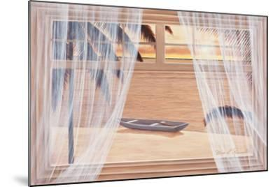 Amber Palms with Window-Diane Romanello-Mounted Art Print