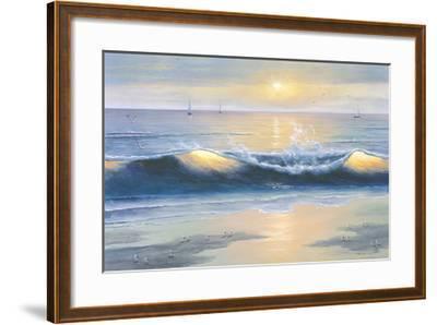 Blue Waves-Diane Romanello-Framed Art Print