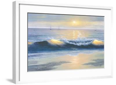 Blue Waves-Diane Romanello-Framed Art Print