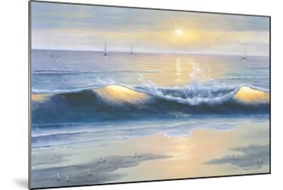 Blue Waves-Diane Romanello-Mounted Art Print