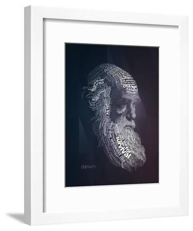 Charles Darwin Typography Quotes-Lynx Art Collection-Framed Art Print