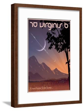 70 Virginis B Space Travel-Lynx Art Collection-Framed Art Print