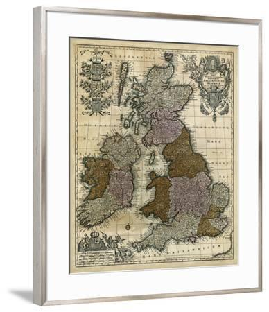 Map of England, Scotland & Ireland-Unknown-Framed Giclee Print