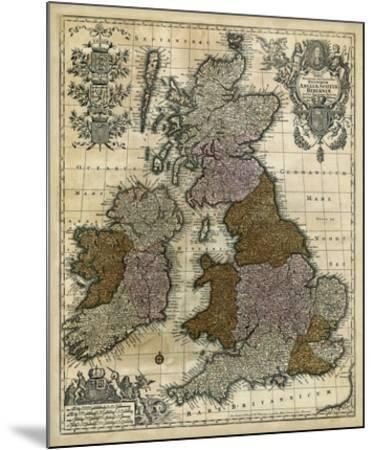 Map of England, Scotland & Ireland-Unknown-Mounted Giclee Print