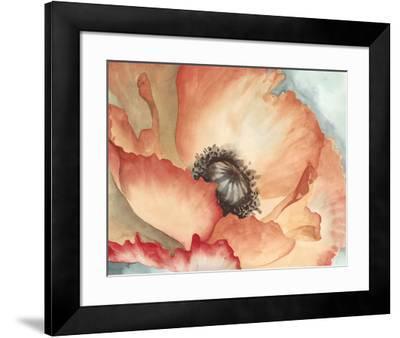 Watercolor Poppy II-Megan Meagher-Framed Art Print
