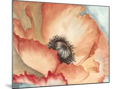 Watercolor Poppy II-Megan Meagher-Mounted Art Print