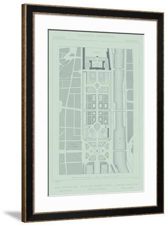 Mint & Slate Garden Plan II-Vision Studio-Framed Giclee Print