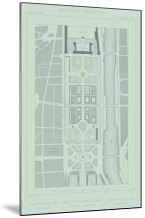 Mint & Slate Garden Plan II-Vision Studio-Mounted Giclee Print