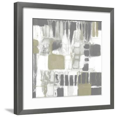Neutral Quadrants I-Jennifer Goldberger-Framed Giclee Print