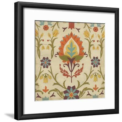 Vintage Damask II-June Erica Vess-Framed Art Print