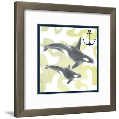 Whale Composition III-Megan Meagher-Framed Art Print