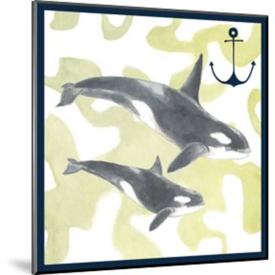 Whale Composition III-Megan Meagher-Mounted Art Print