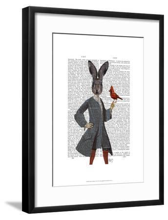Rabbit and Bird-Fab Funky-Framed Art Print