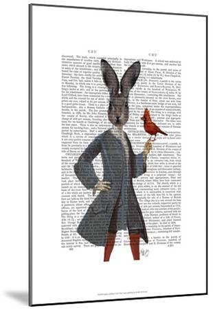 Rabbit and Bird-Fab Funky-Mounted Art Print
