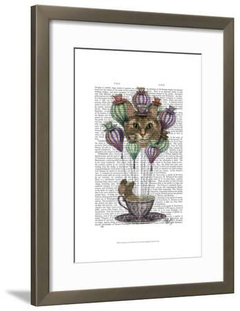 Cheshire Cat Hot Air Balloon-Fab Funky-Framed Art Print
