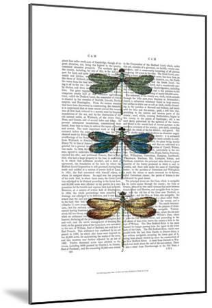 Dragonflies Print 1-Fab Funky-Mounted Art Print