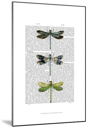 Dragonflies Print 2-Fab Funky-Mounted Art Print