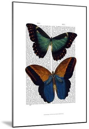 Butterflies 4-Fab Funky-Mounted Art Print